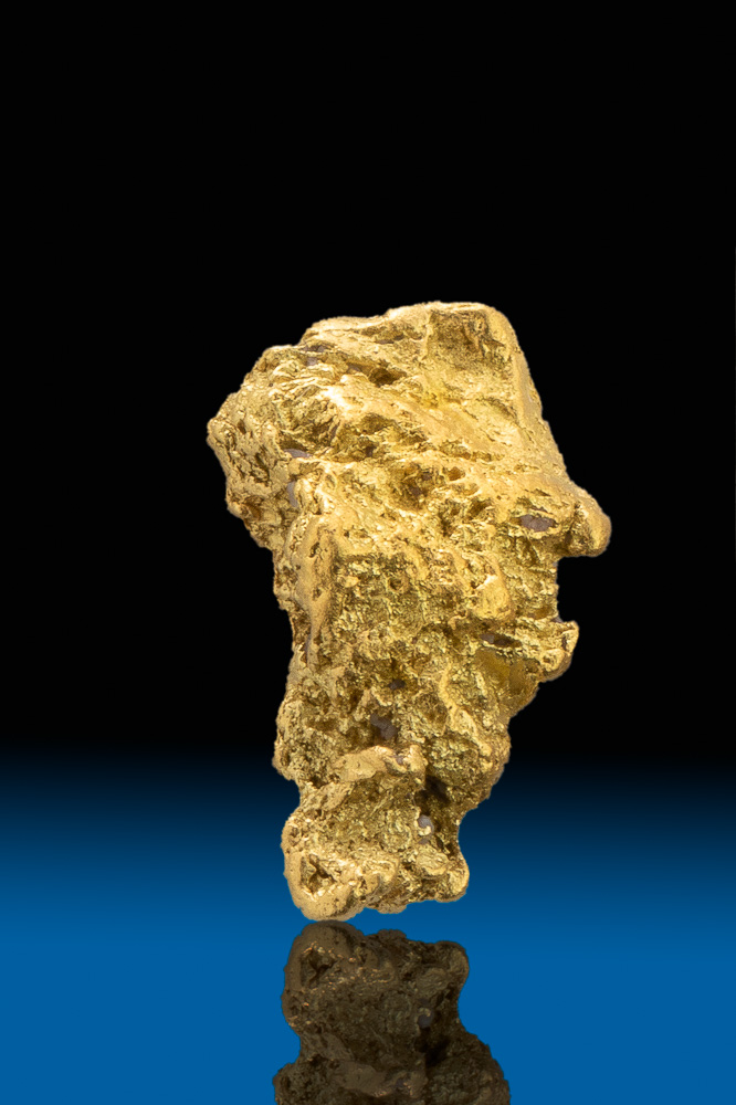 Tapered Natural Crystalline Gold Nugget - Calaveras, CA