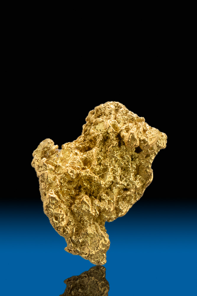 Brilliant Crystalline Gold Nugget from Calaveras County, CA