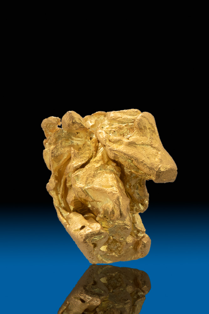 Thick Chunky and Intricate Natural Gold Nugget - California