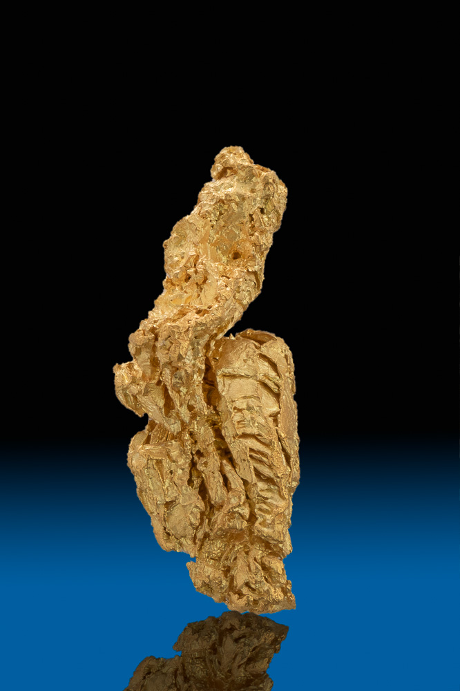 Long and Intricate Natural California Gold Nugget