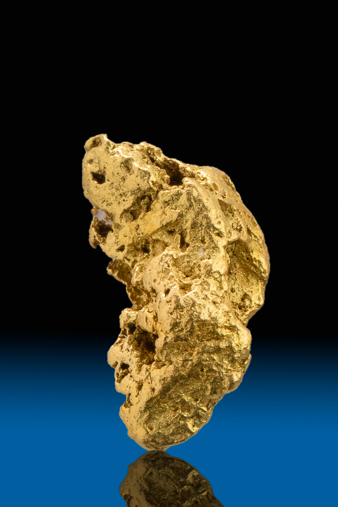 Elongated and Tapered Crystalline Gold Nugget - Calaveras, CA