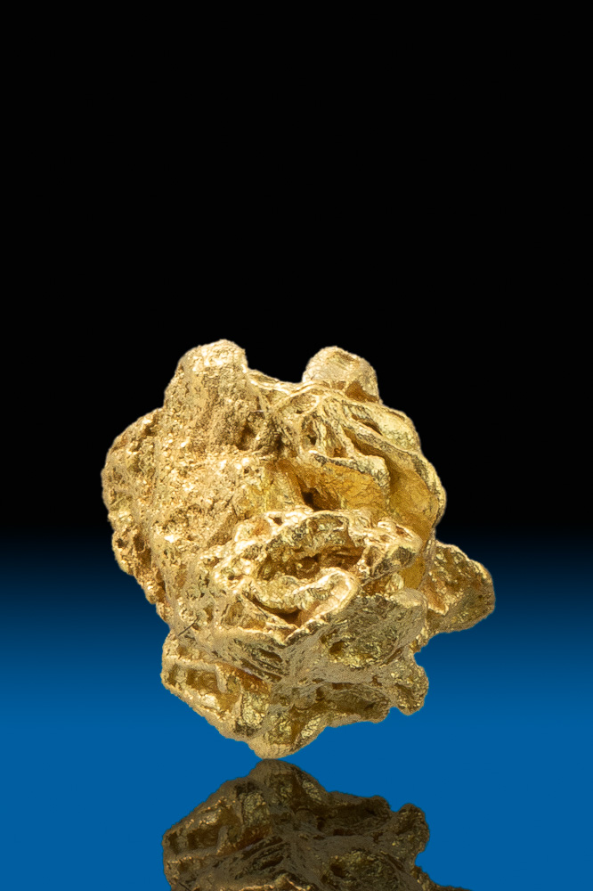 Thick and Intricate Crystalline Gold Nugget - Calaveras, CA