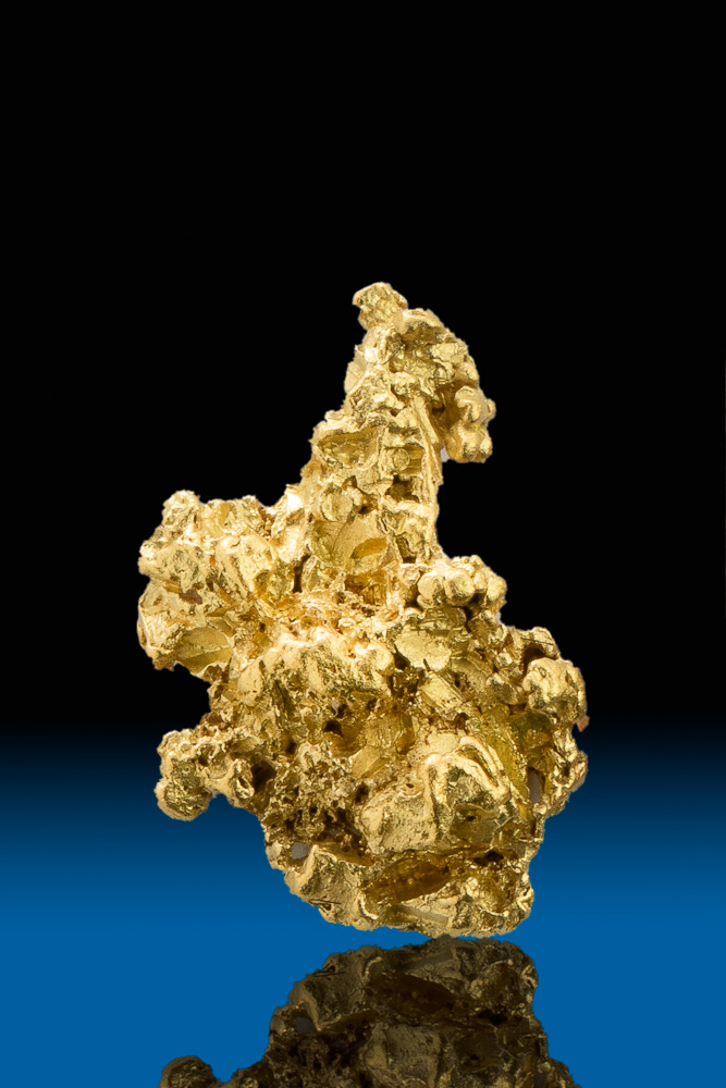 Brilliant Tapered Crystalline Gold Nugget - Calaveras County, CA