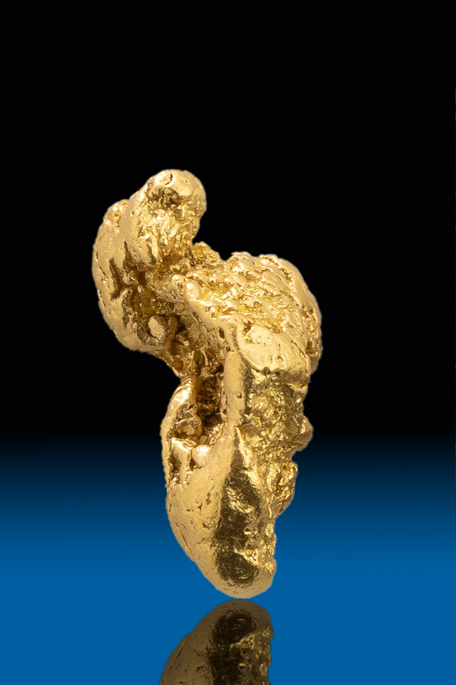 Unique Twisted Shape - Natural Gold Nugget from California