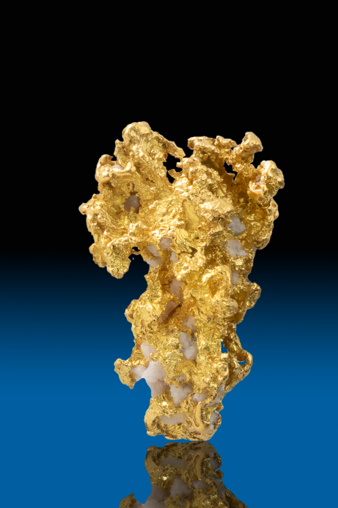 Brilliant Thick and Tapered Gold Nugget - Calaveras, CA