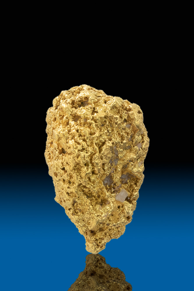 Sandstone Textured Tapered Gold Nugget from Calaveras, CA