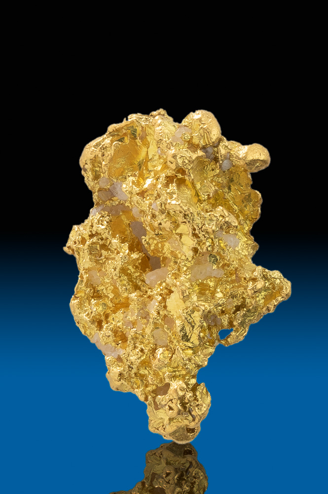Tapered and Intricate California Gold Nugget - Calaveras County