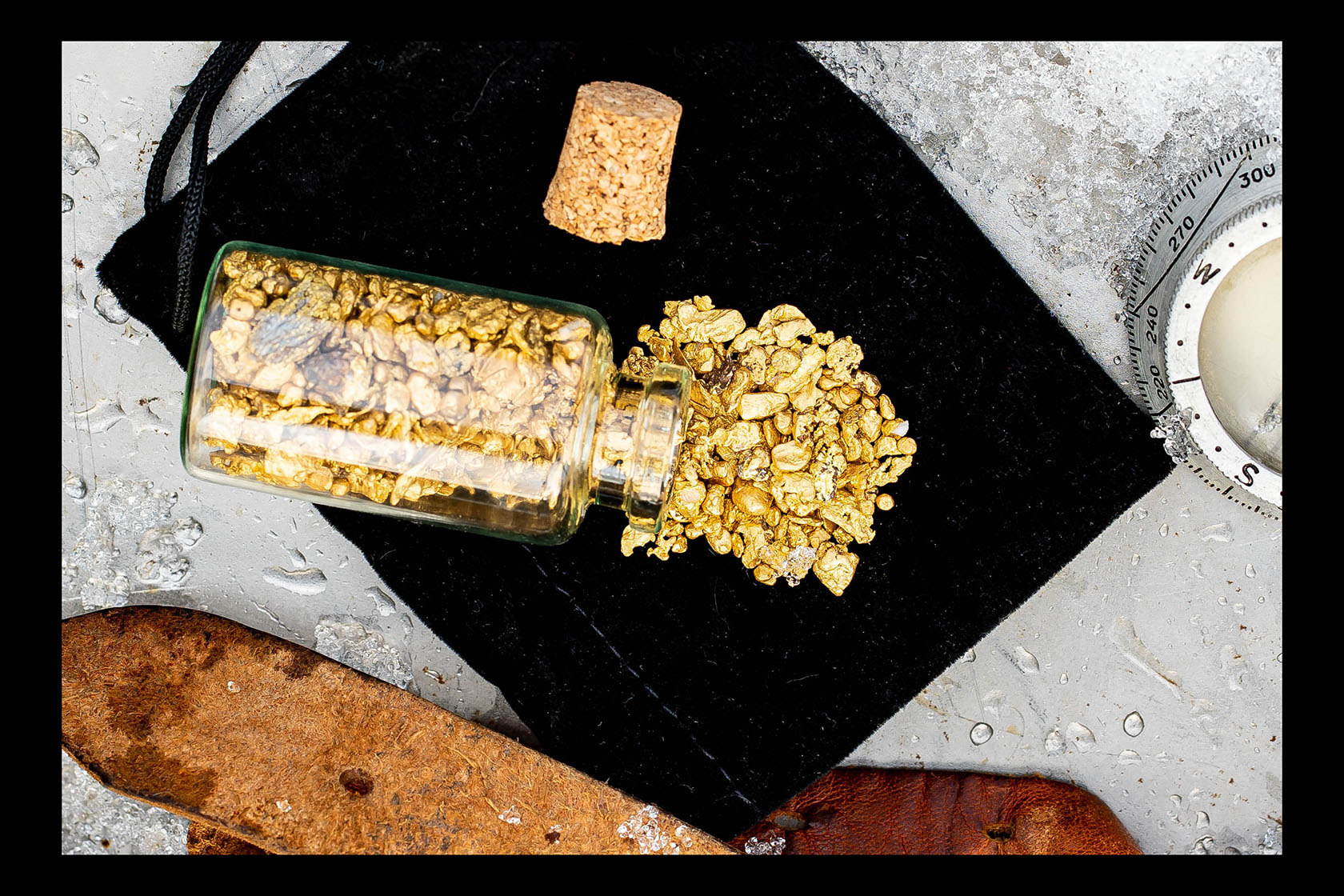 Cold Foot Creek, Alaska - 3 grams of natural gold nuggets