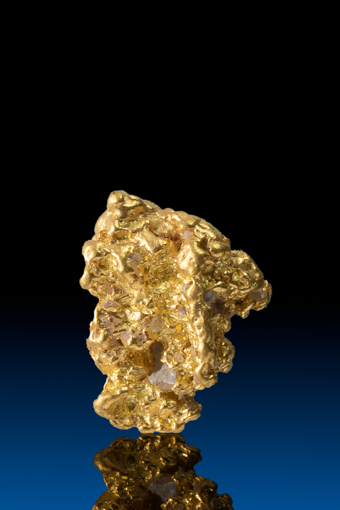 Interesting Shape Faceted Colorado Natural Gold Nugget - 1.94 g