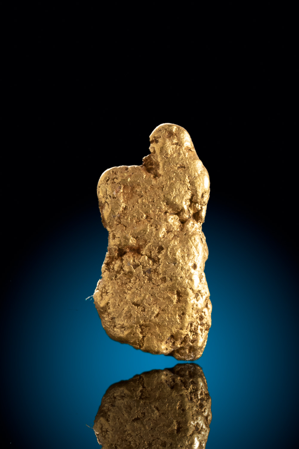 Elongated Natural Gold Nugget from Colorado