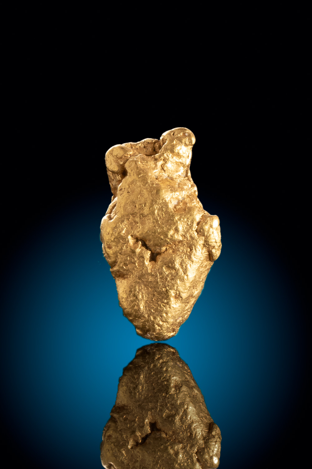 Plump Elongated Colorado Gold Nugget
