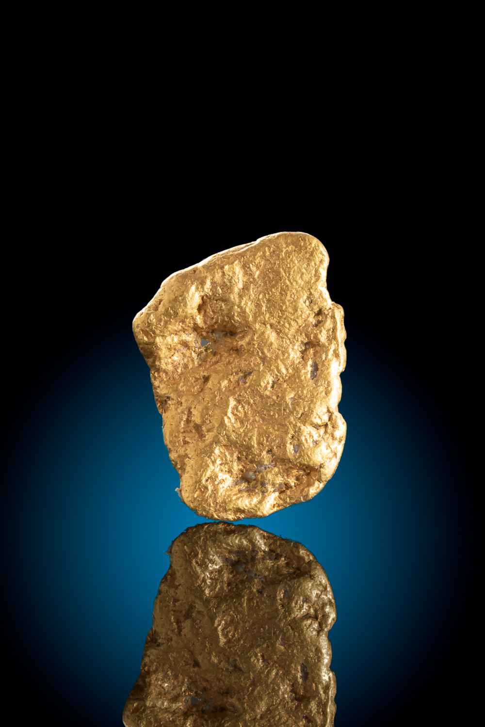 Large and Thin Gold Nugget from Colorado - Vibrant Color