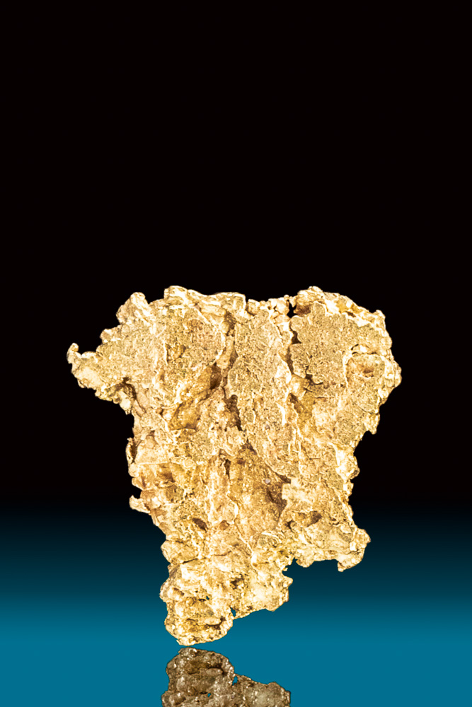 Textured Natural Gold Nugget from Park County, CO