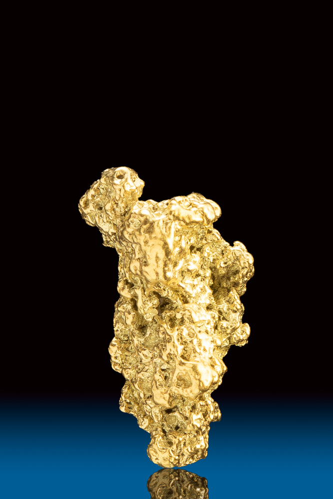 Elongated Chunky Natural Gold Nugget from Park County, CO