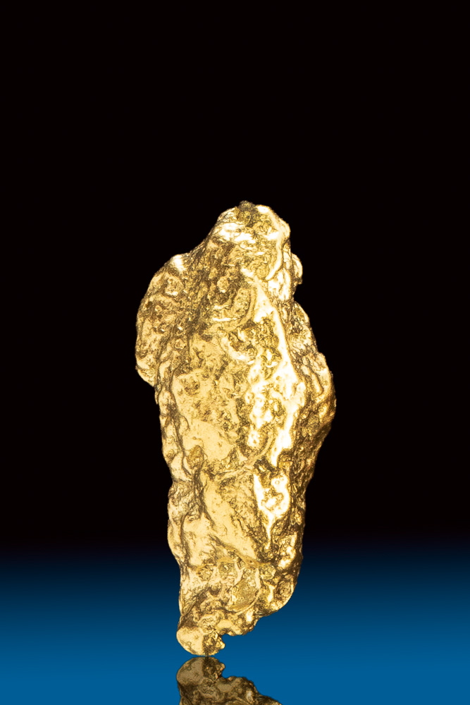 Shiny Long Natural Gold Nugget from Colorado
