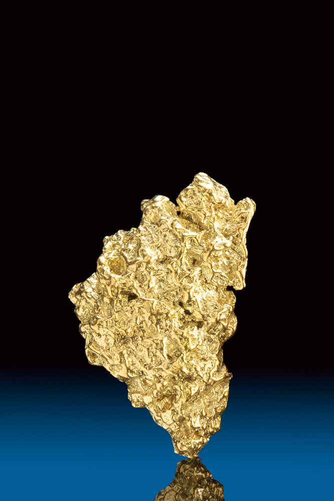 Unique Shiny Natural Gold Nugget from Park County, CO