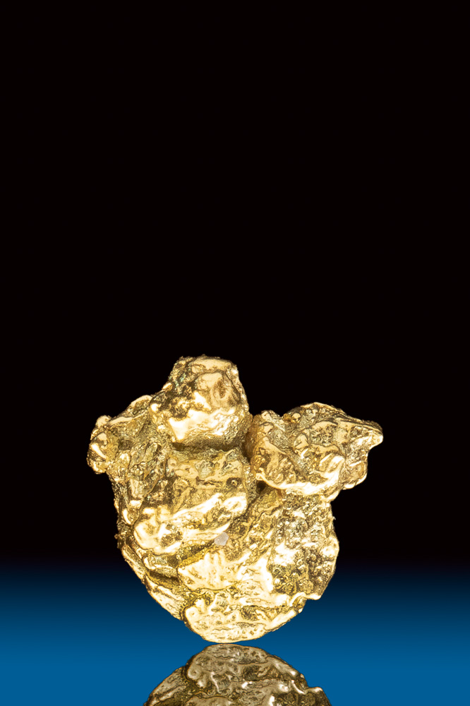 Uniquely Shaped and Rare Natural Gold Nugget from Colorado