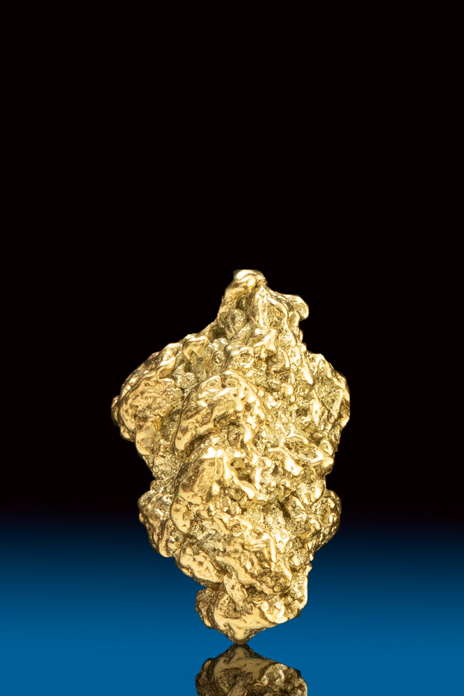 Stunning Shiny Natural Gold Nugget from Park County, CO