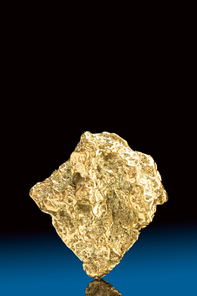 "Shiny ""Diamond"" Shaped Natural Gold Nugget from Colorado"