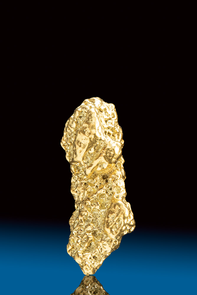 Textured Long Natural Gold Nugget from Park County, CO