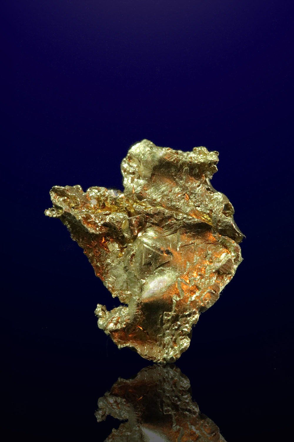 Leaf Gold with Crystals - Colorado Quartz Mine, California