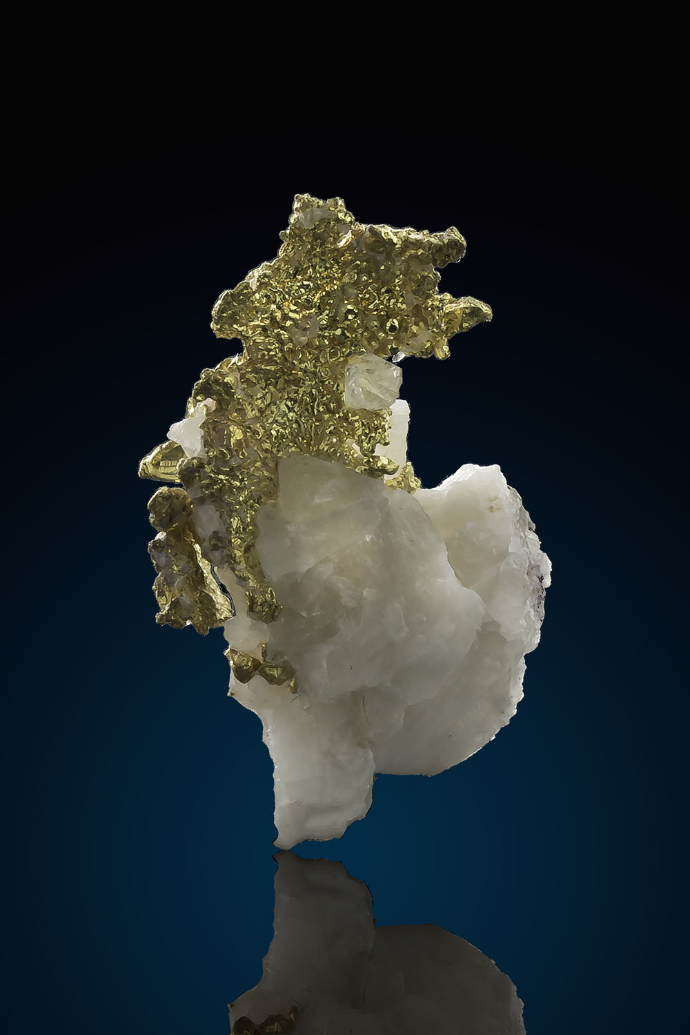 Faceted Gold Crystals on Quartz - Eagles Nest Gold Mine
