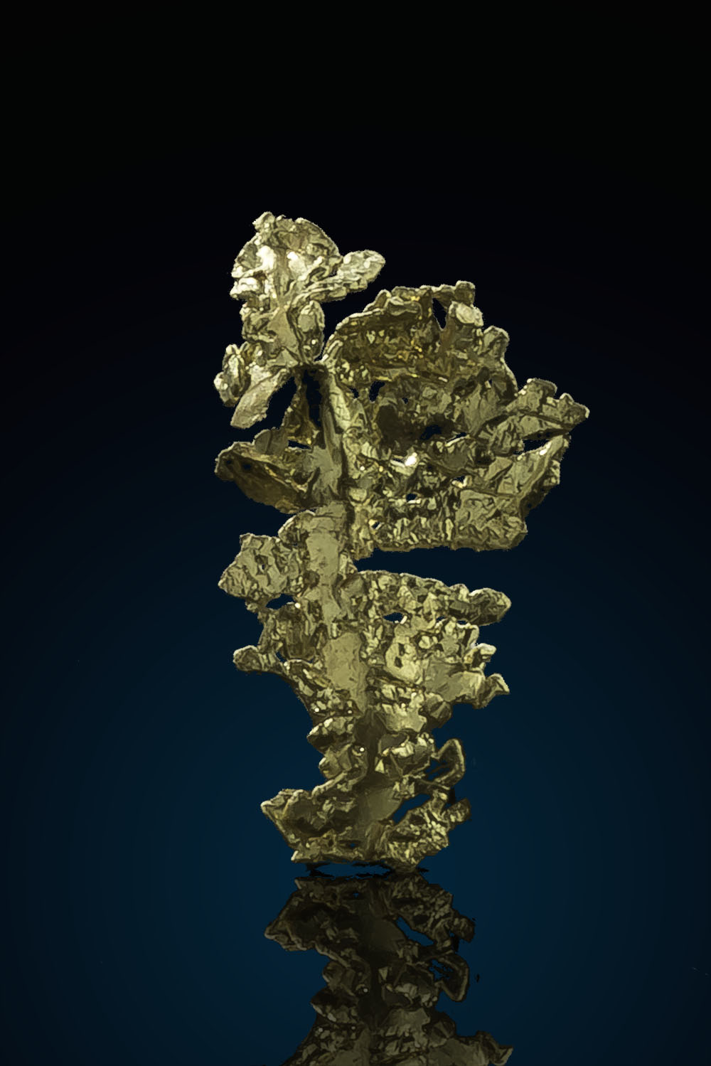 Natural Leaf Gold Crystal - Eagles Nest Gold Mine