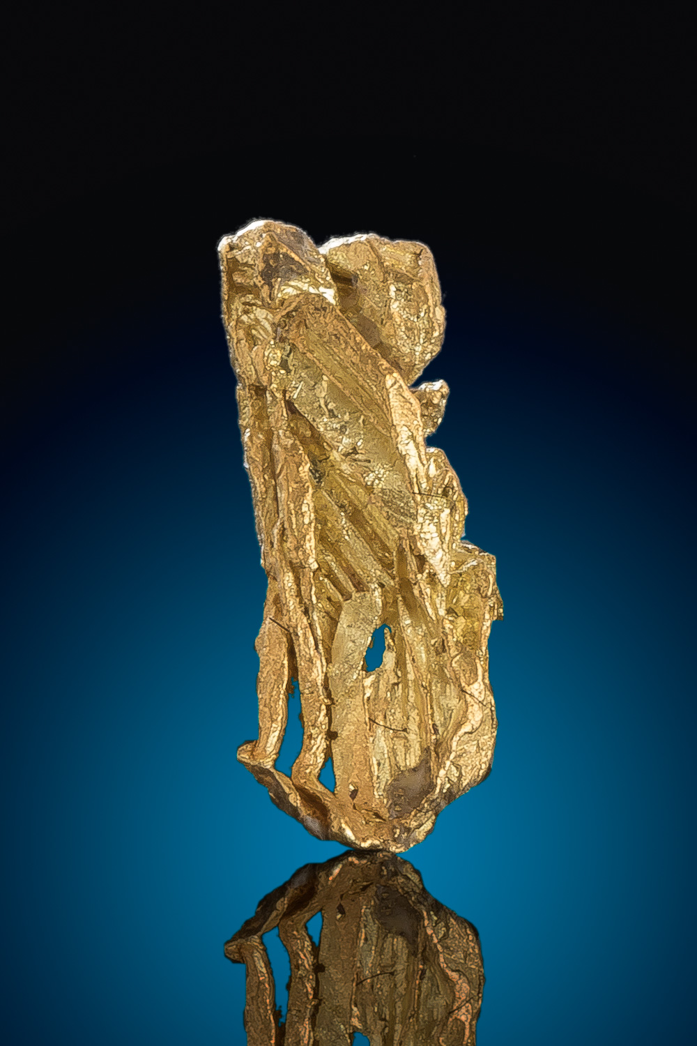 Long Striated Hoppered Gold Nugget Specimen from the Yukon