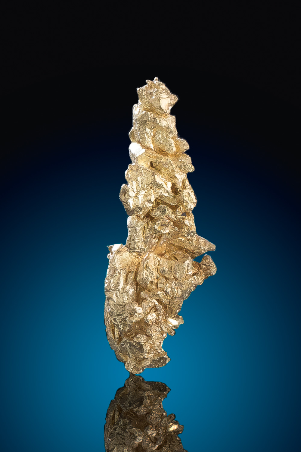Long Brilliand Gold Nugget Crystal - Round Mountain Gold Mine