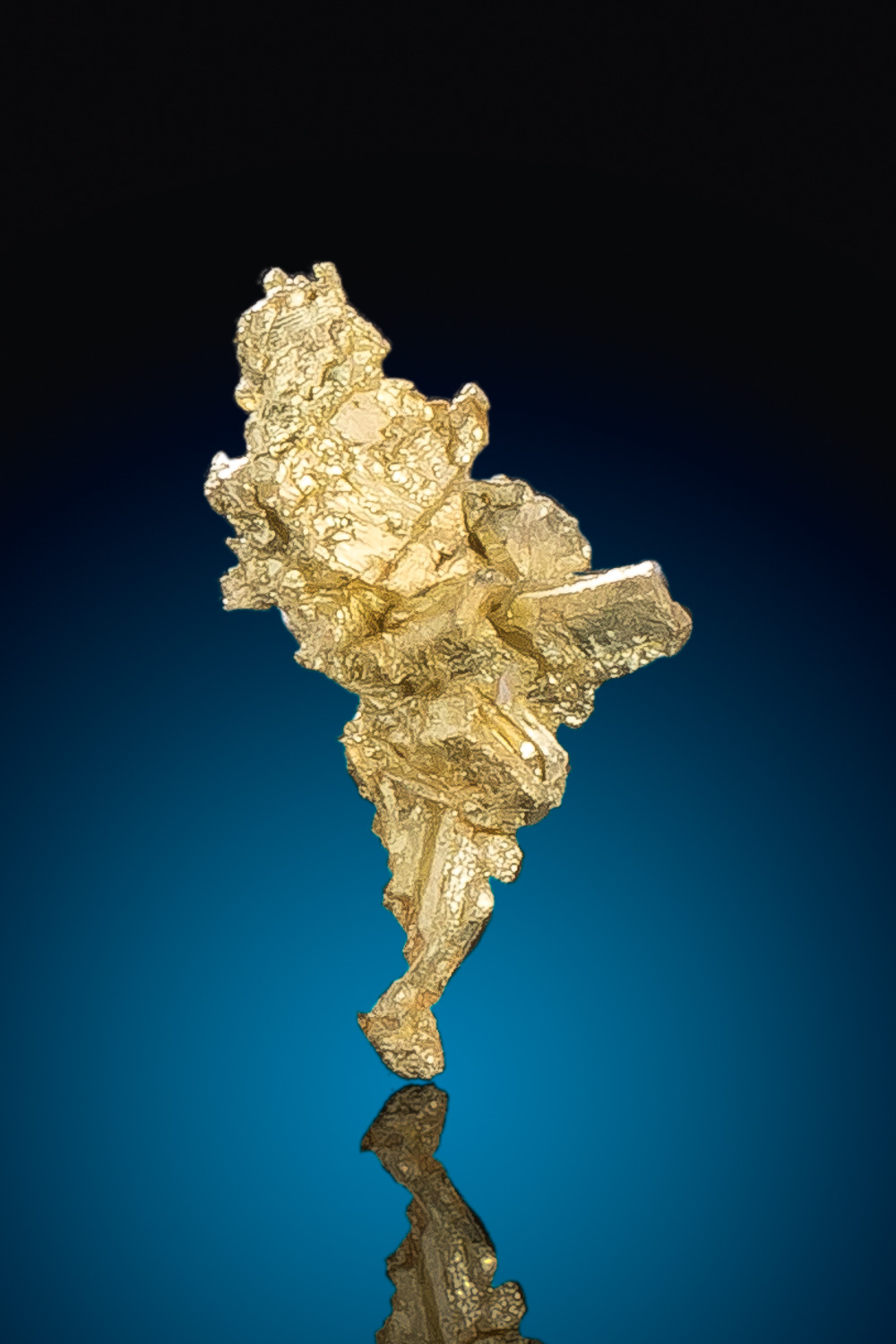 Brilliant Gold Nugget Crystal - Round Mountain Gold Mine