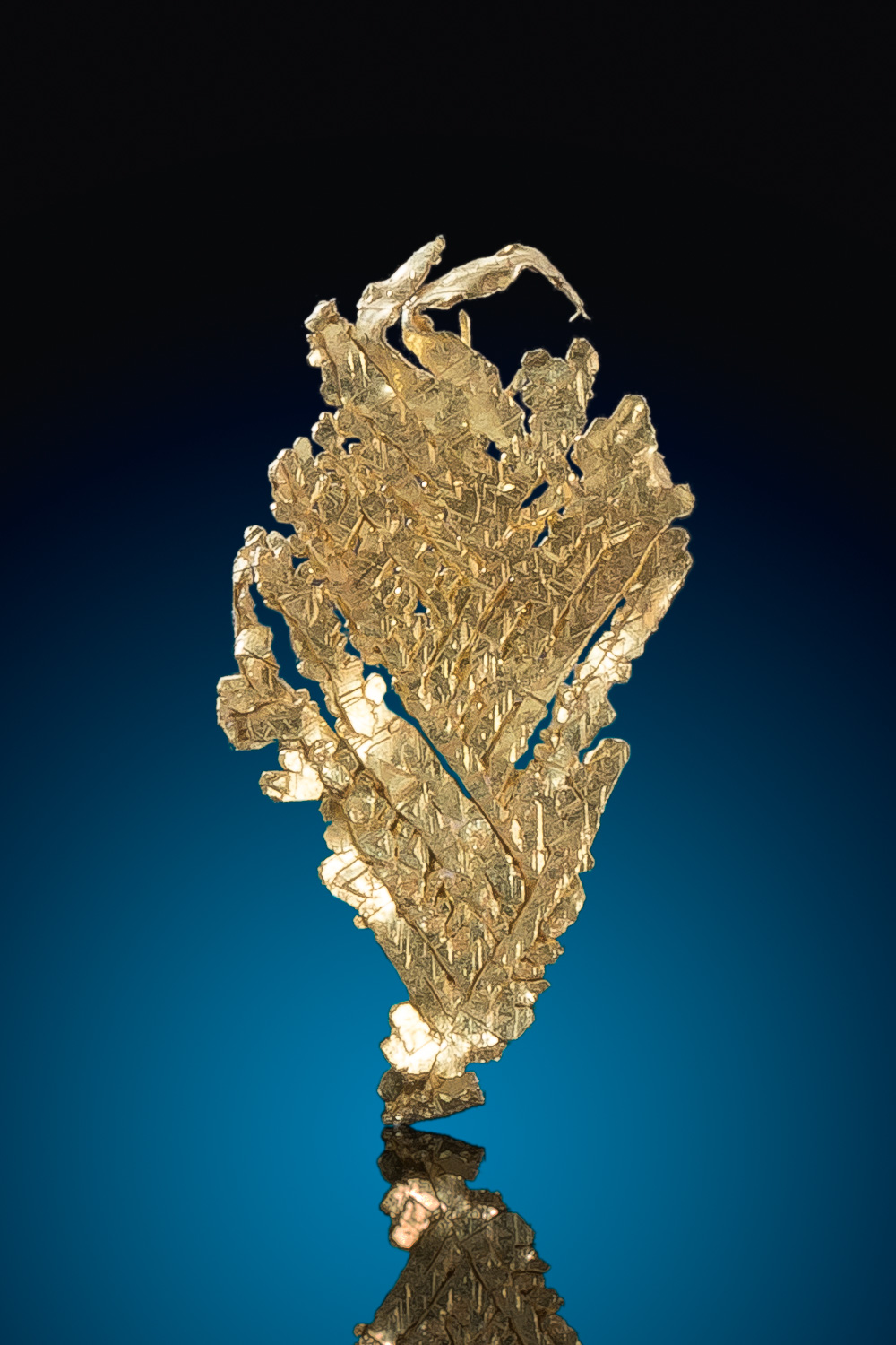 Brilliant Stacked Crystal Formation -Natural Leaf Gold Specimen