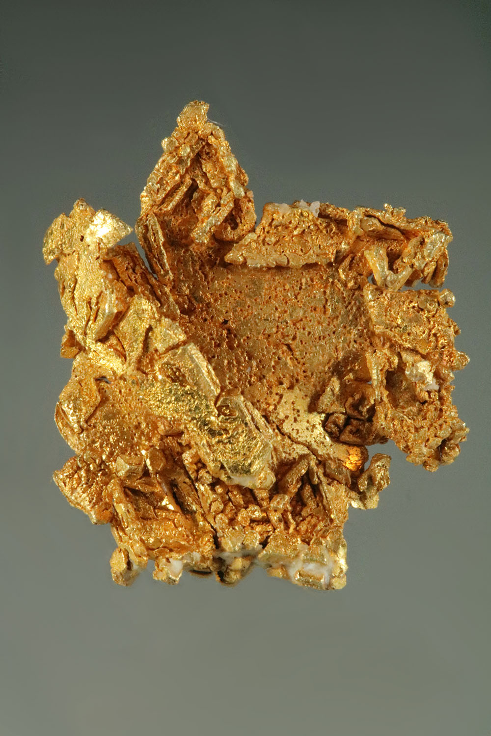 Hoppered Trigon Gold Crystal Specimen from Papua New Guinea