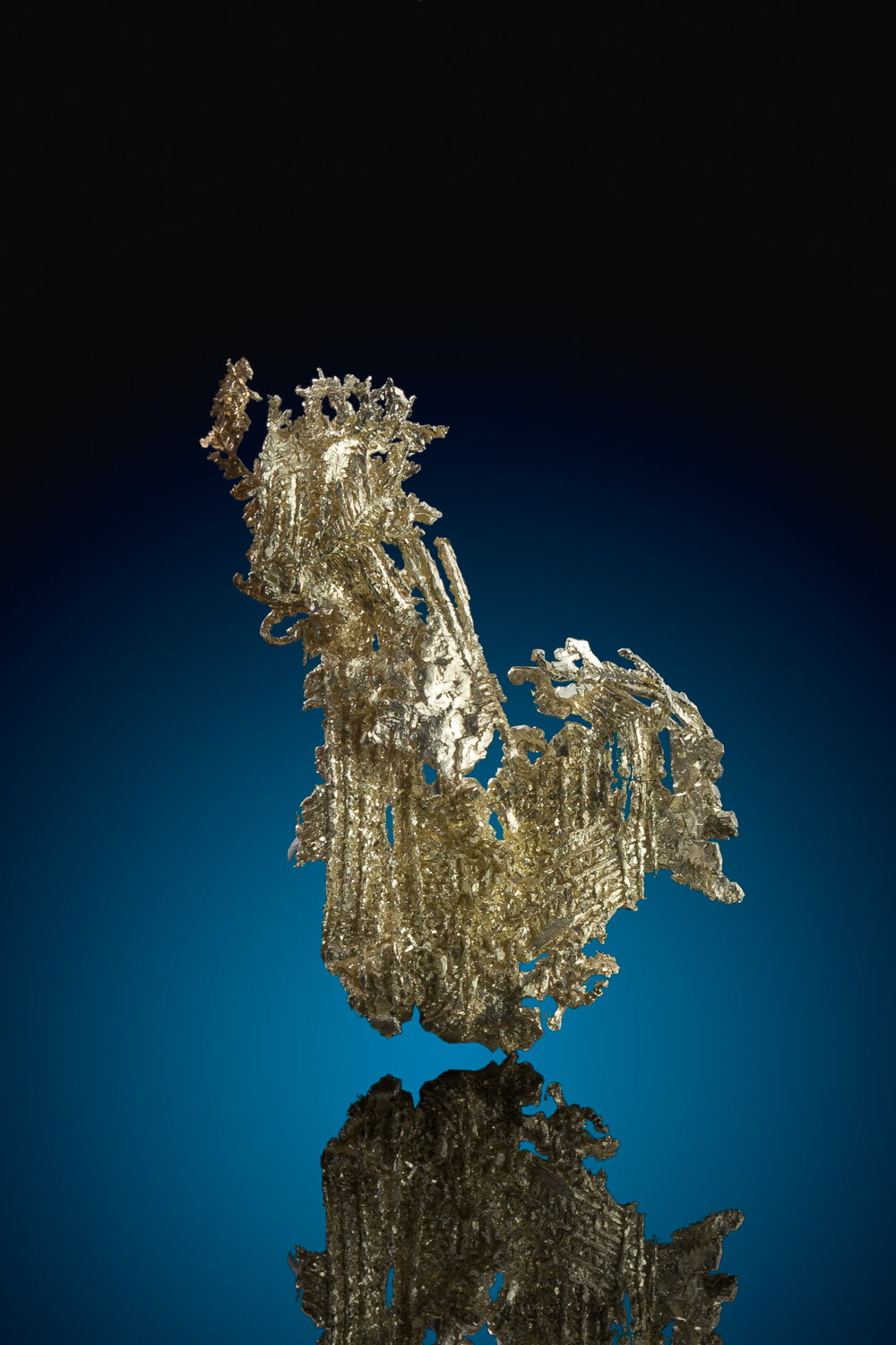 Brilliant Striated and Dendritic Gold Crystal - Olinghouse Mine