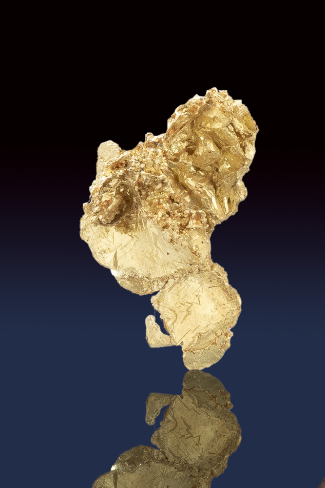 Beautiful Crystalline Gold Nugget from the Allegheny