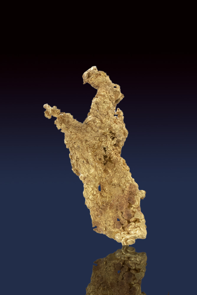 Textured and Brilliant Crystalline Gold Nugget - Allegheny