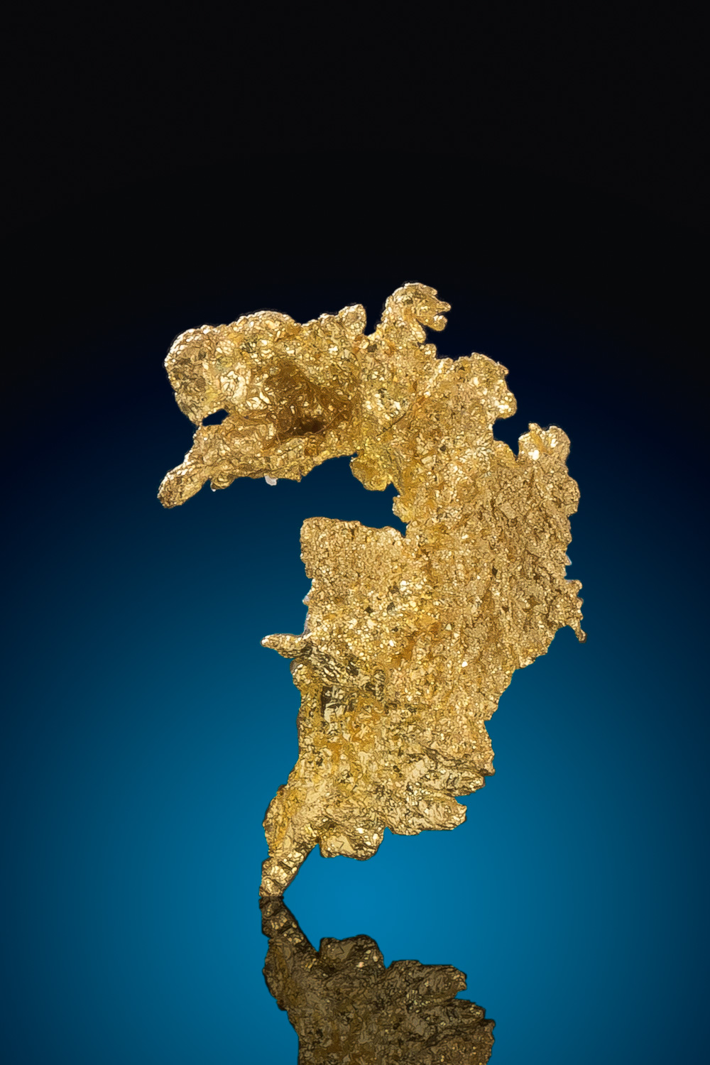 Unique Curved Crystalline Gold Nugget - Eagels Nest Gold Mine
