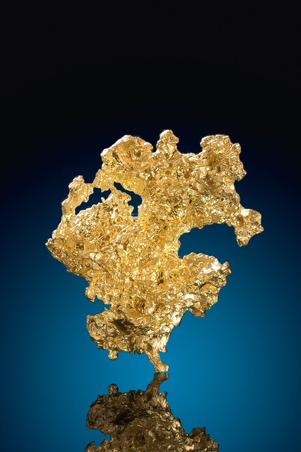 Rounded and Intricate - Crystalline Gold Nugget - Eagles Nest