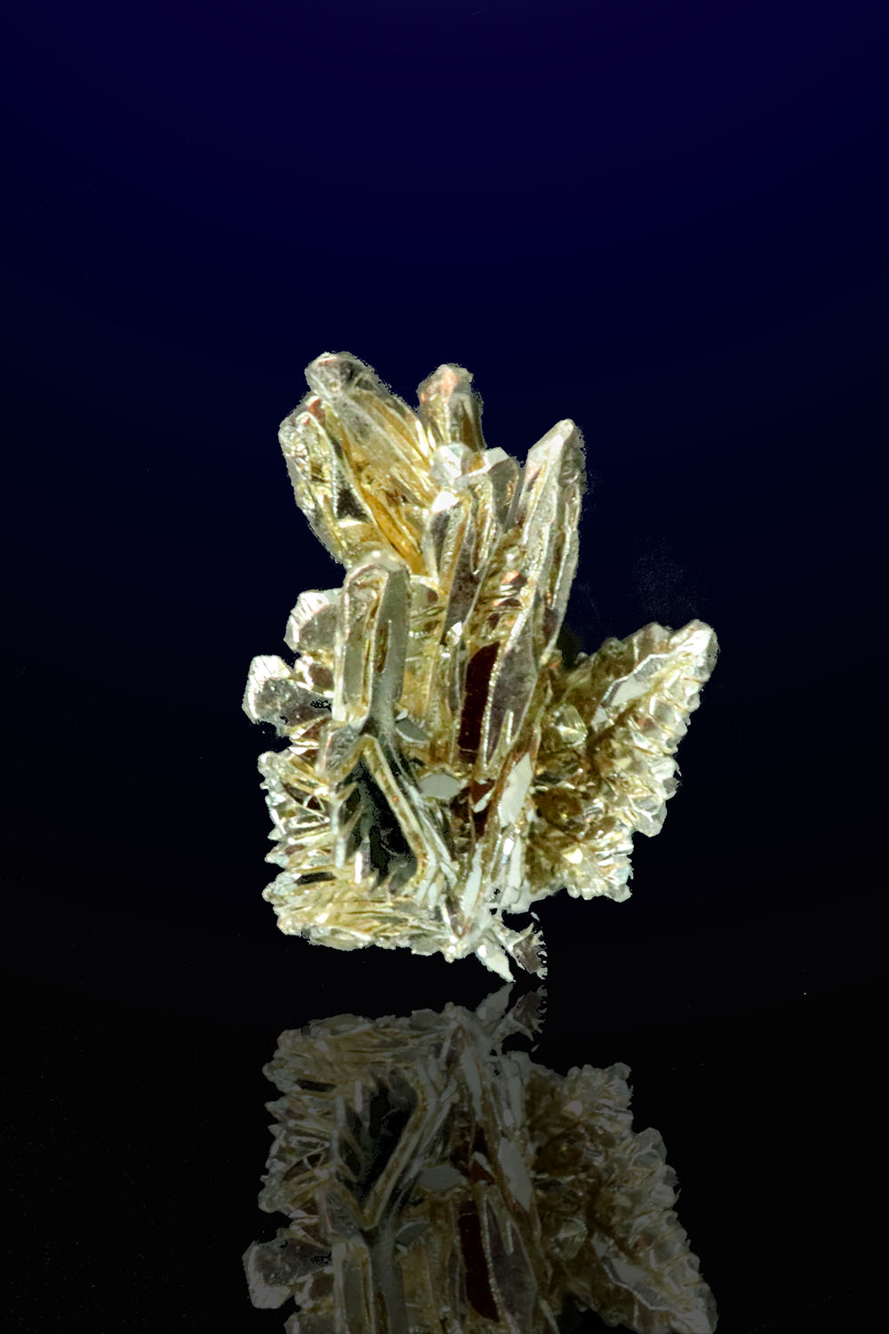 Fire Creek Mine - Natural Electrum Gold Crystal Cluster
