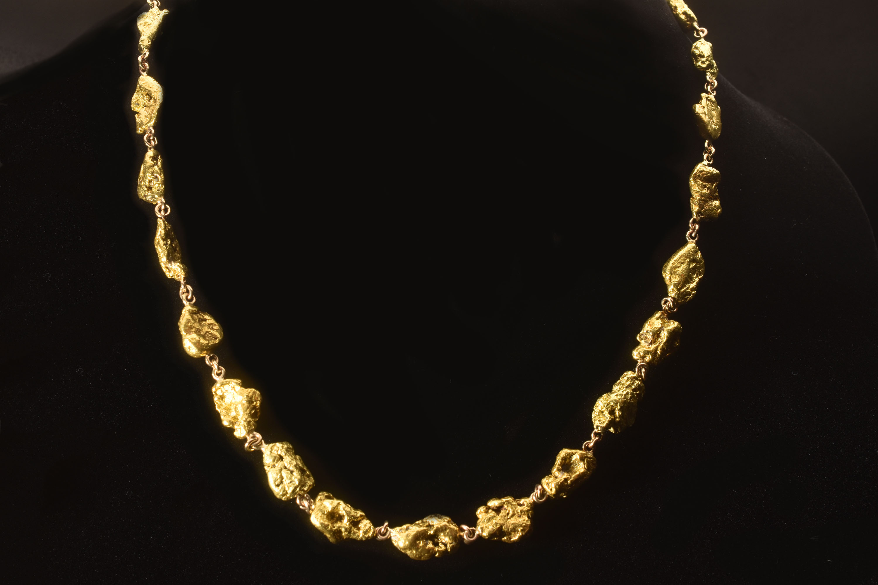 One-of-a-kind - 78 Gram Natural Alaskan Gold Nugget Necklace