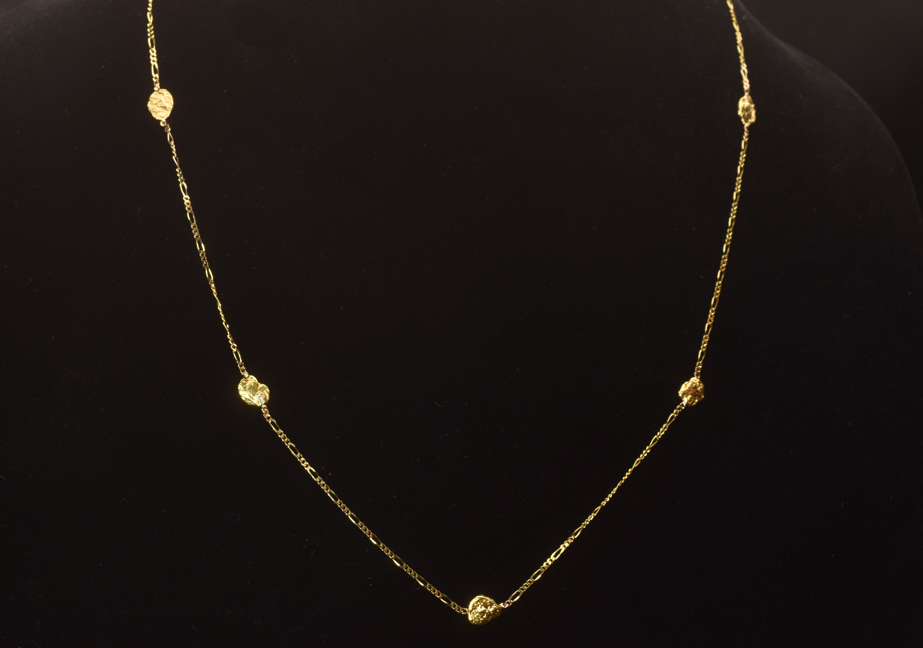 Beautiful - Seven Gold Nugget Necklace