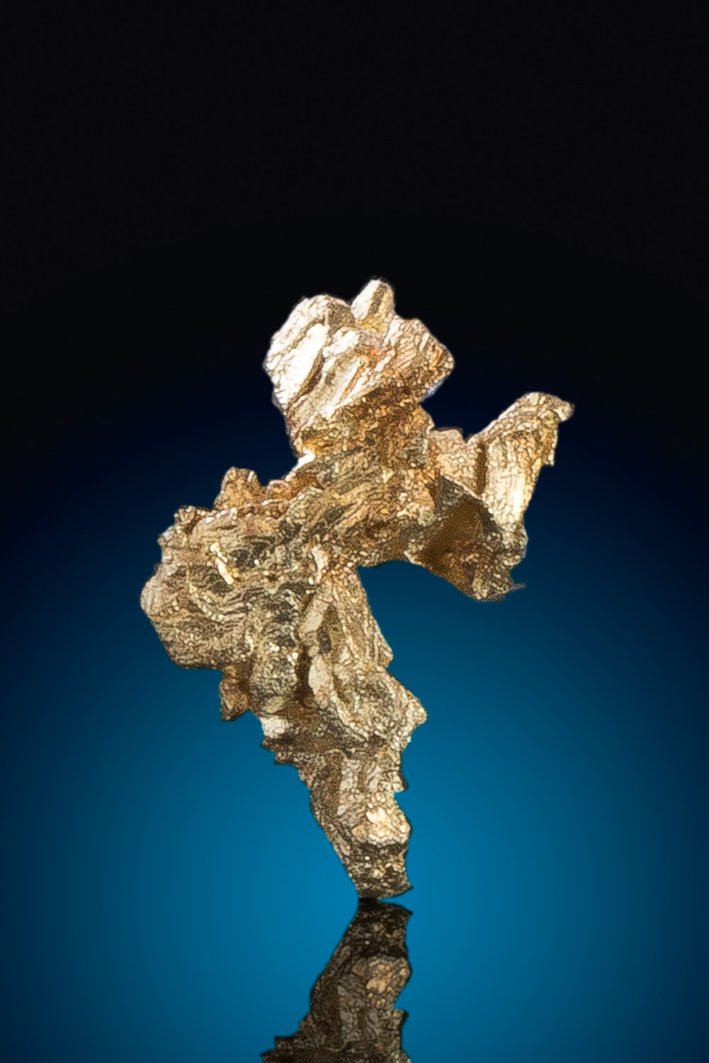 Rounded and Tapered Gold Nugget Crystal - Nevada