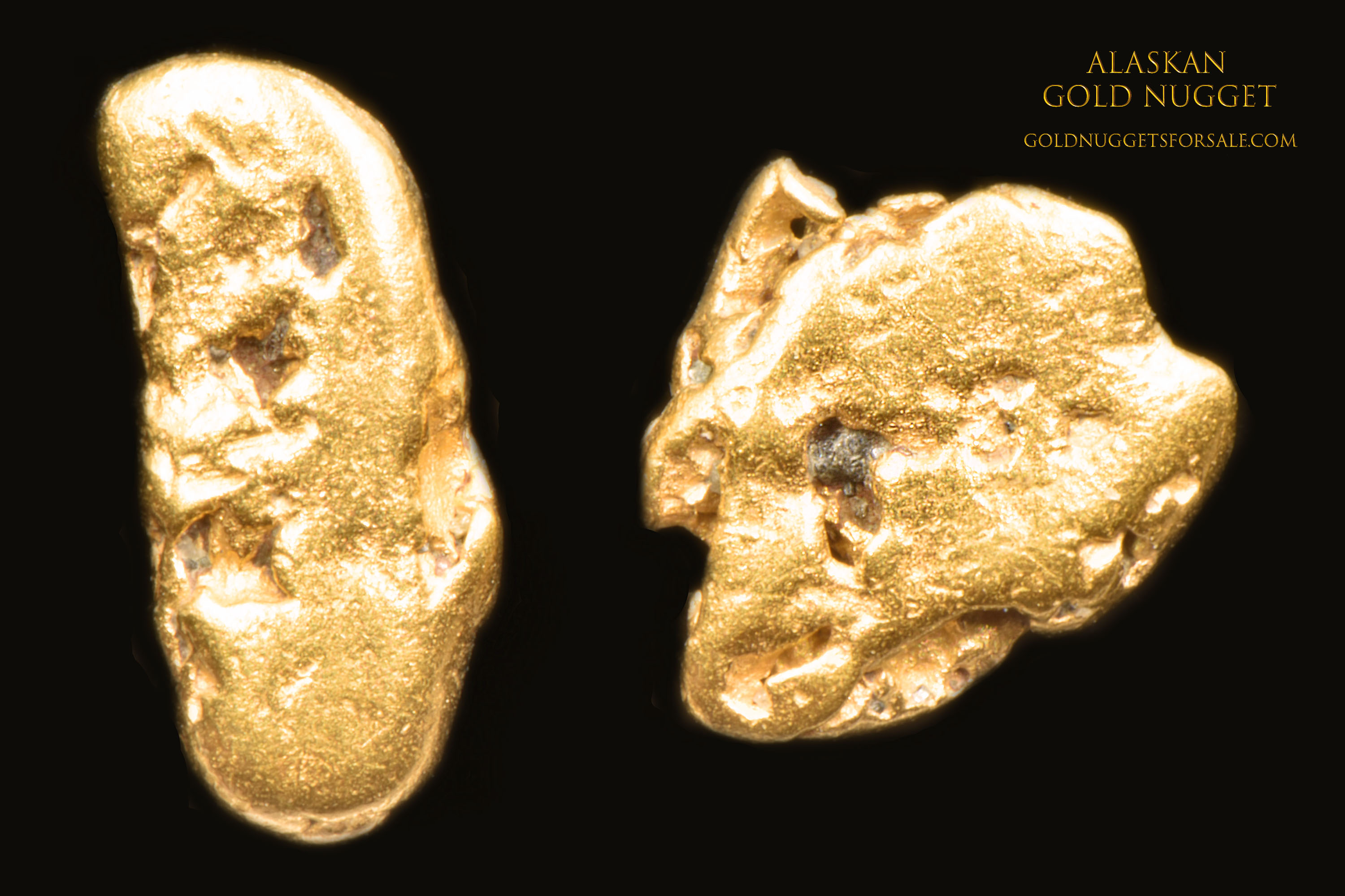 Terrific Little Pair Of Jewelry Grade Gold Nuggets From Alaska