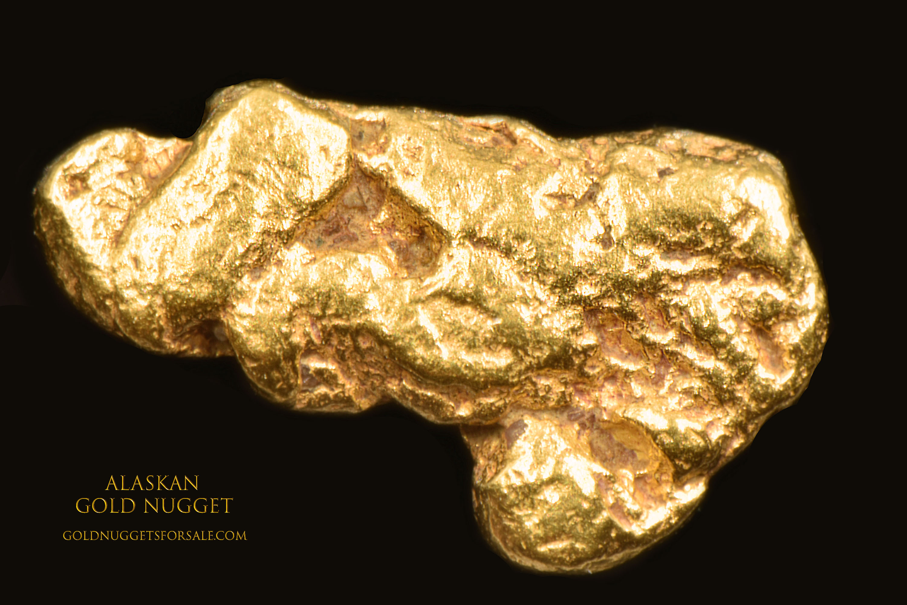 Detailed Jewelry Grade Alaskan Gold Nugget