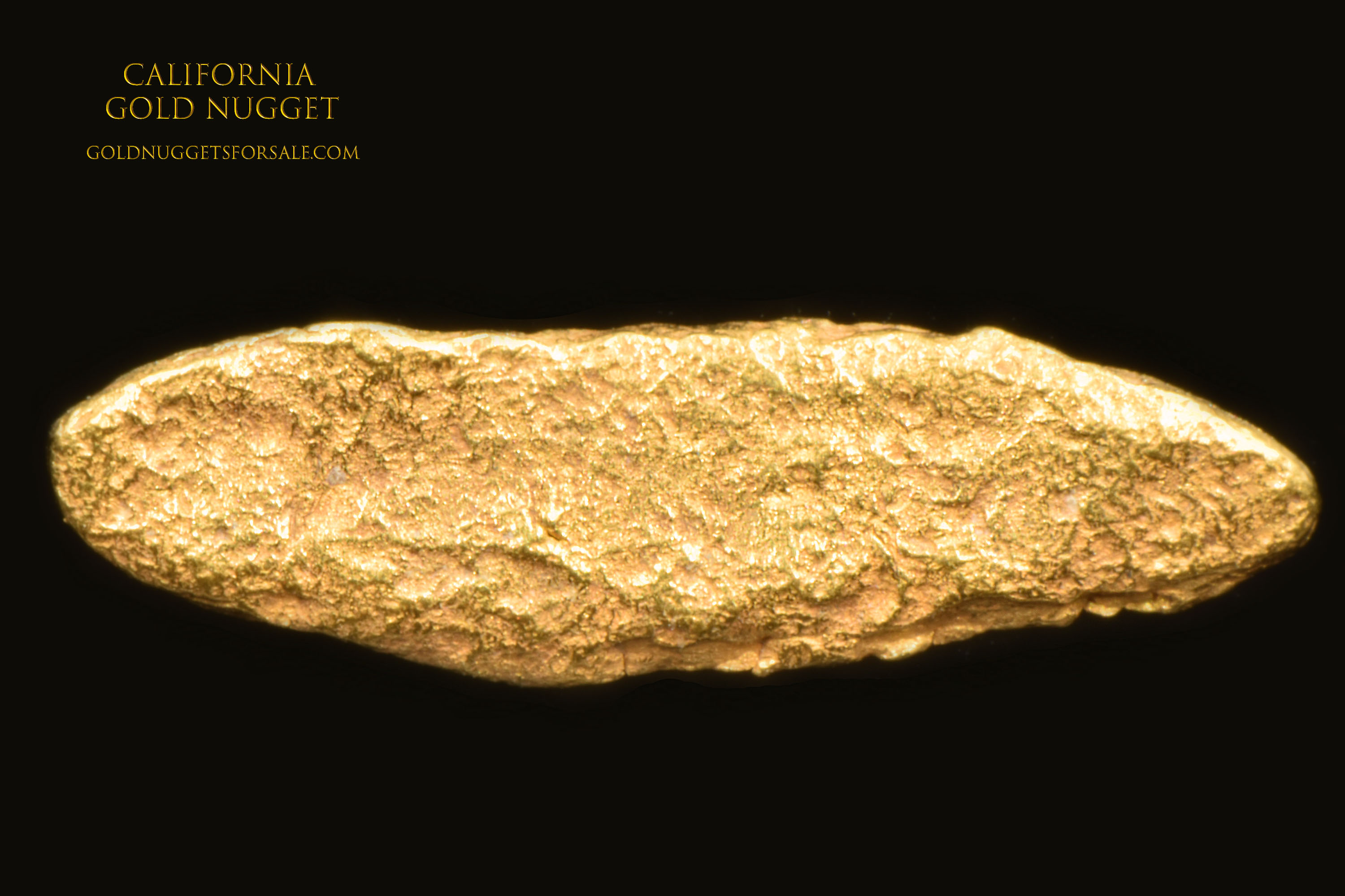 Textured And Uniformly Shaped California Gold Nugget