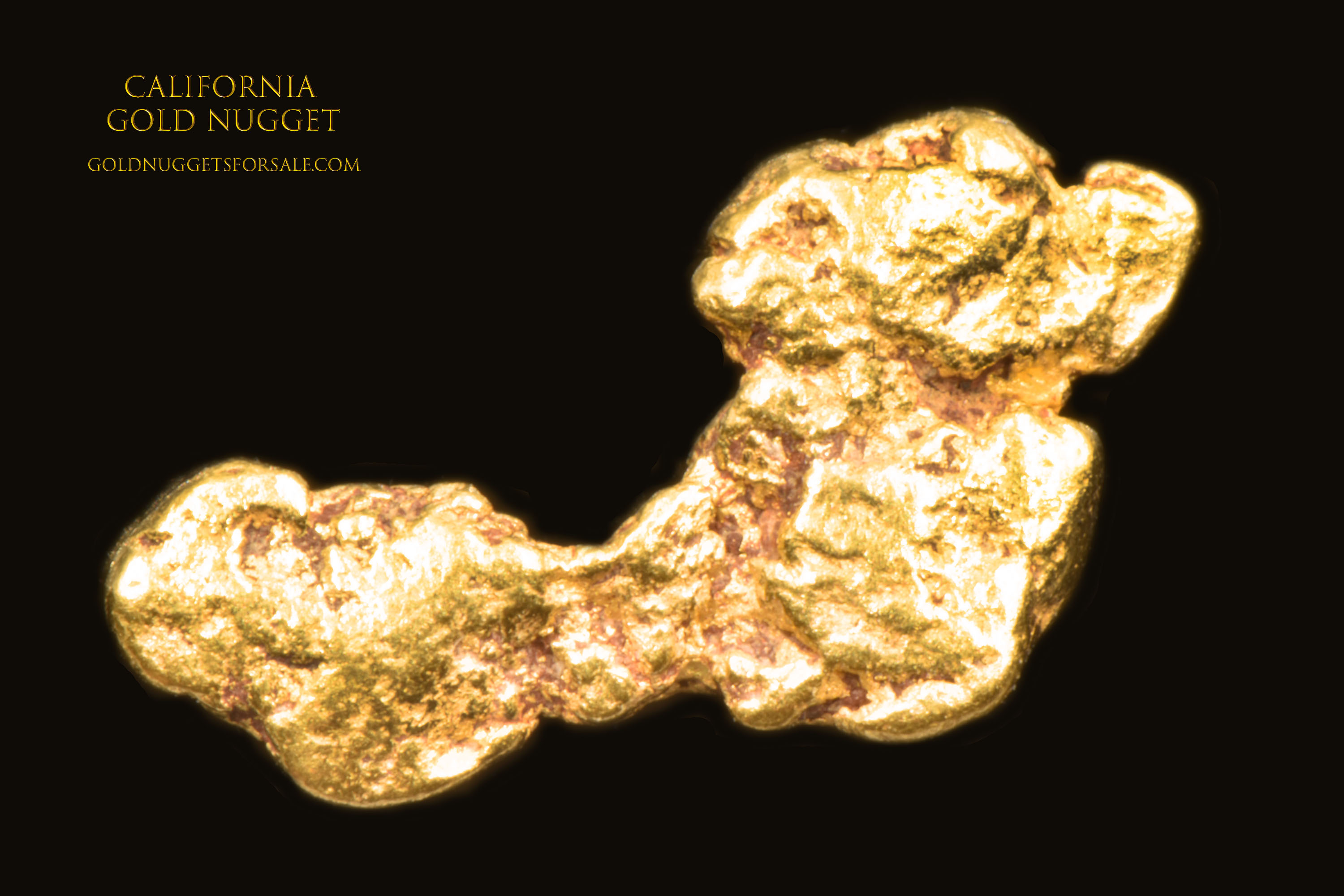 Unusual Shape, Great Color - Gold Nugget From California