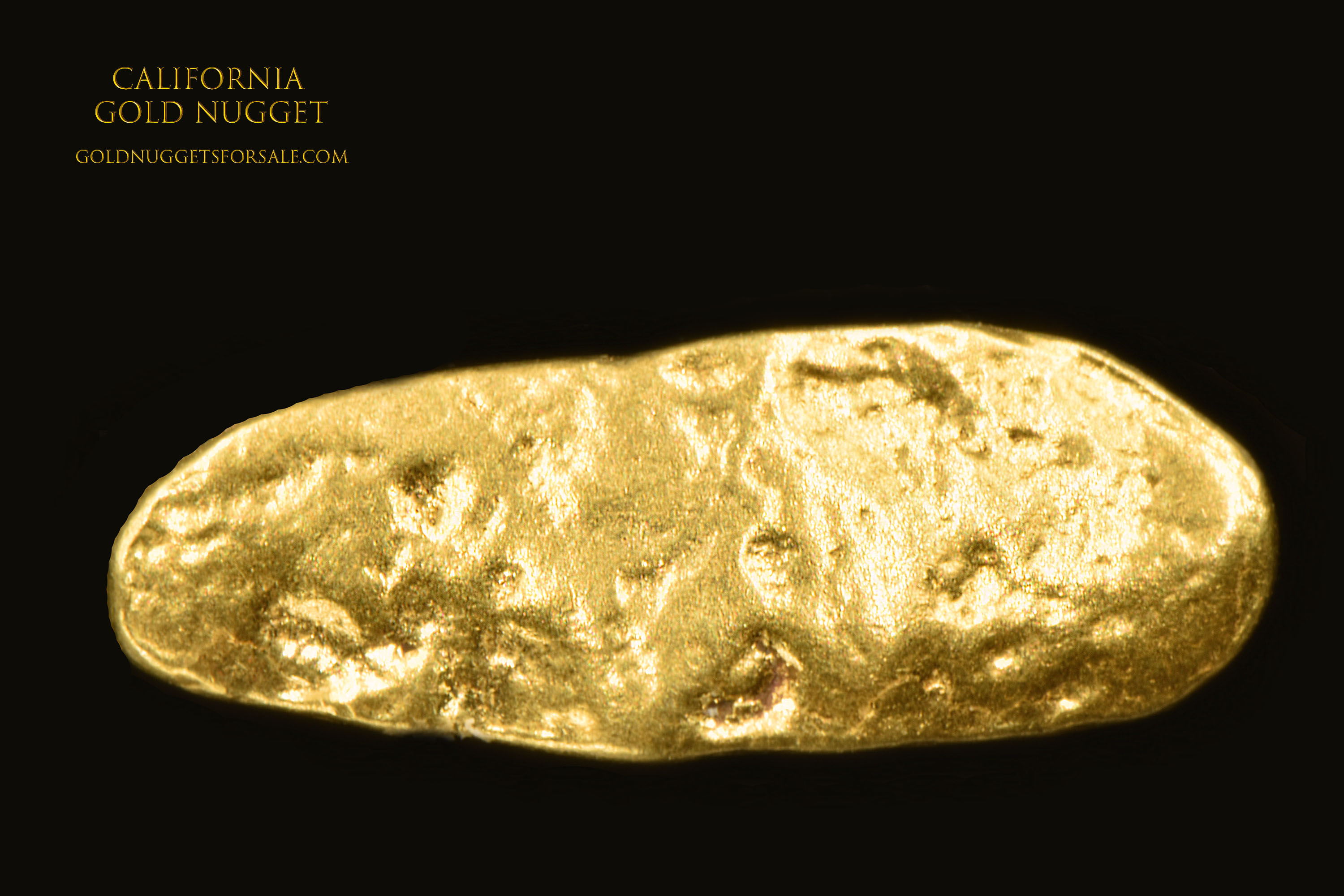 Smooth Jewelry Grade Gold Nugget From California