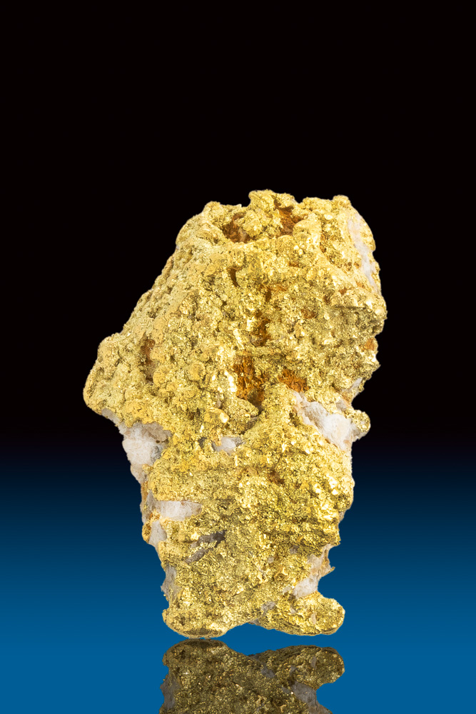 Native Textured Natural Alaskan Gold and Quartz Nugget
