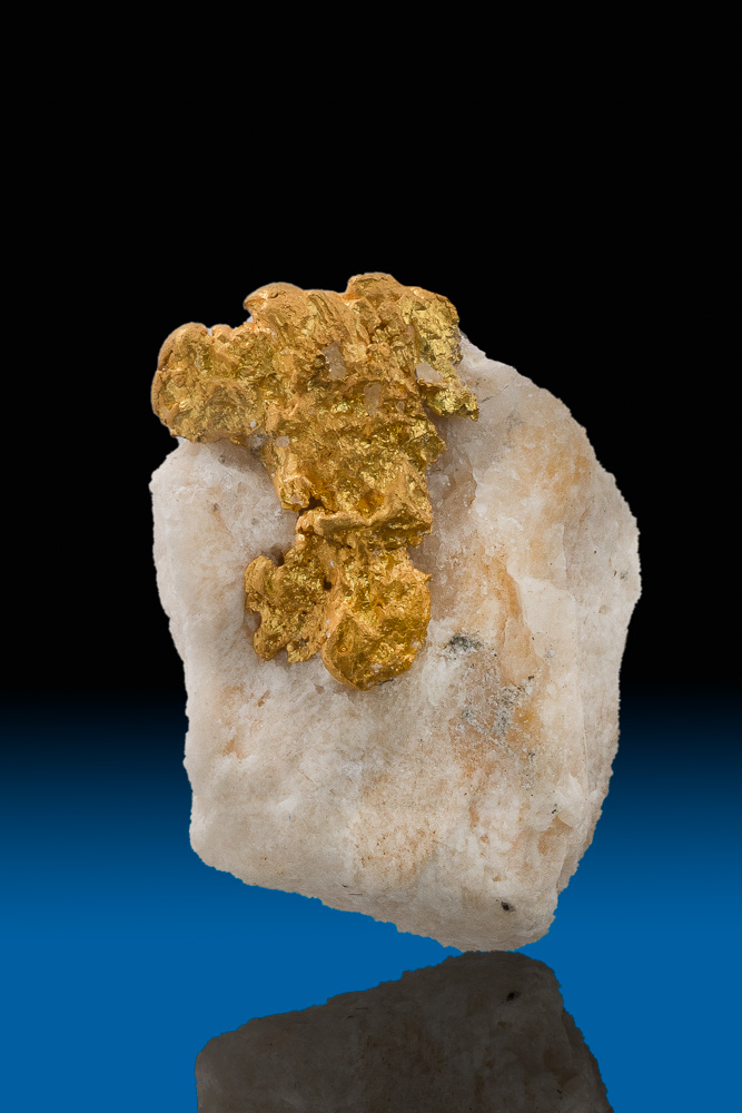 Eroded Gold Crystal in Quartz Yuba River Downieville, California