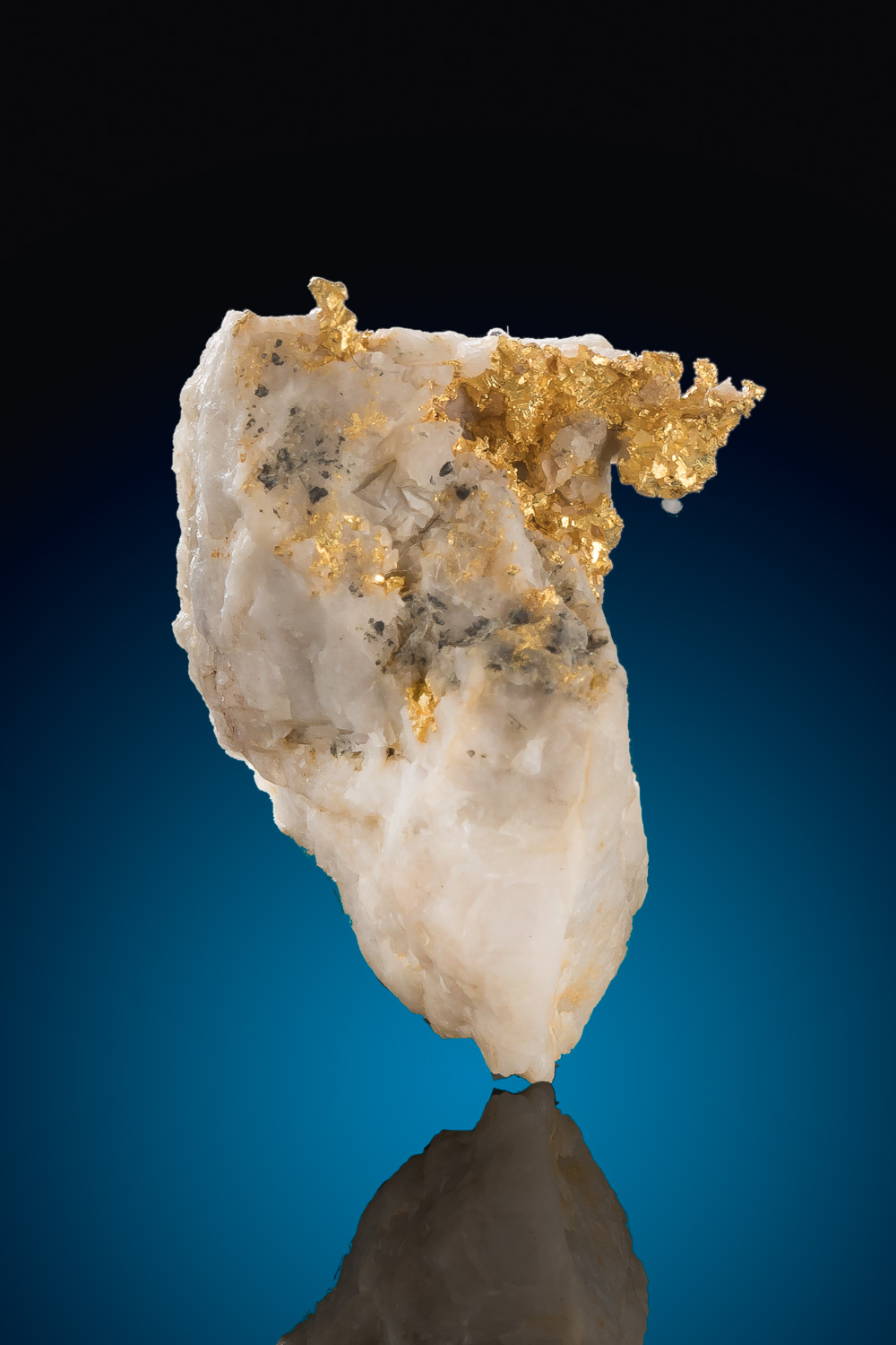 Imbedded and Cavernous Crystalline Gold in Quartz