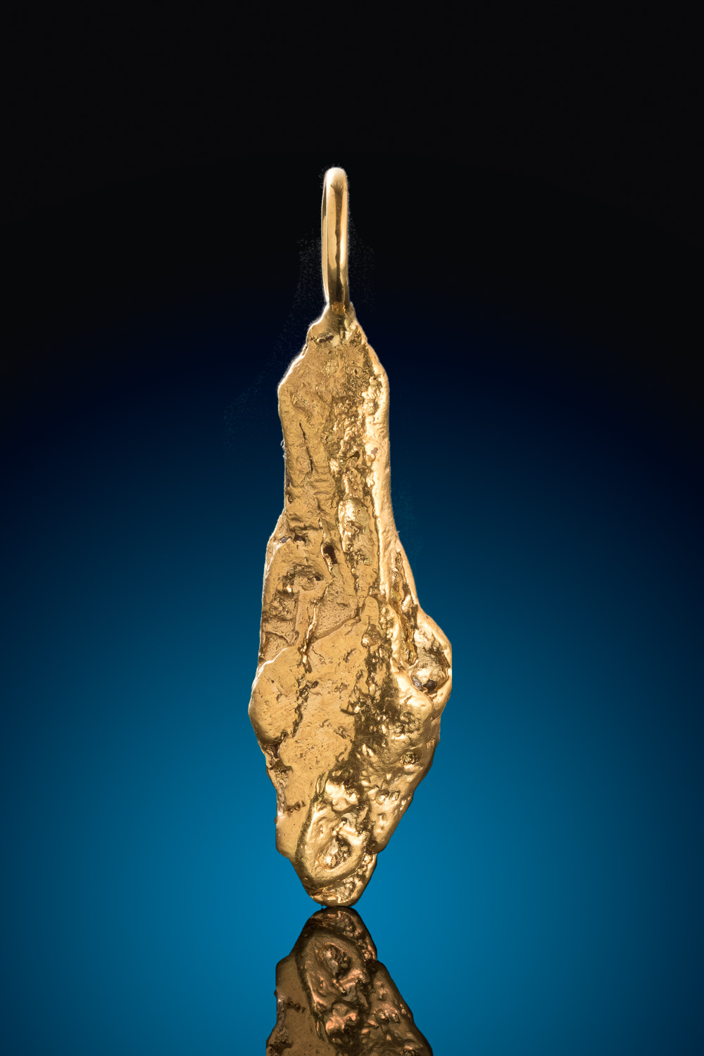 Long and Tapered Natural Alaskan Gold Nugget Pendant